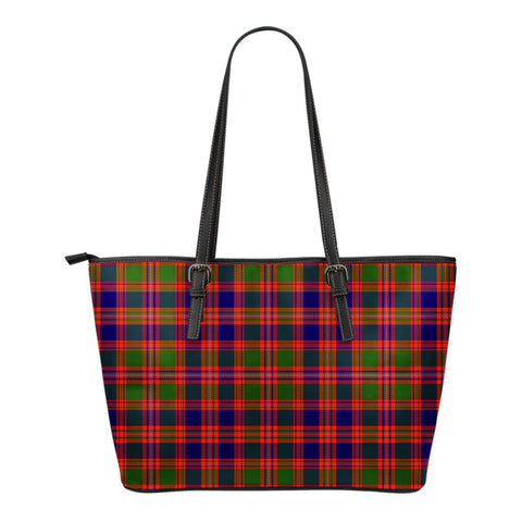 MacIntyre Modern Tartan Leather Tote Bag (Small) | Over 500 Tartans | Special Custom Design