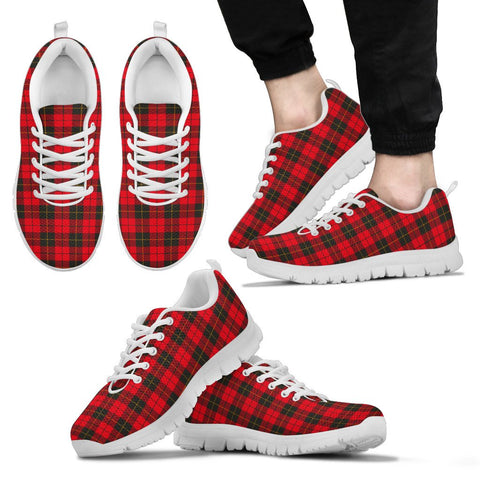 Wallace Weathered, Men's Sneakers, Tartan Sneakers, Clan Badge Tartan Sneakers, Shoes, Footwears, Scotland Shoes, Scottish Shoes, Clans Shoes