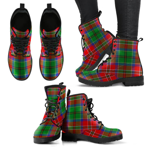 Leather Boots - Clan McCulloch Plaid Boots