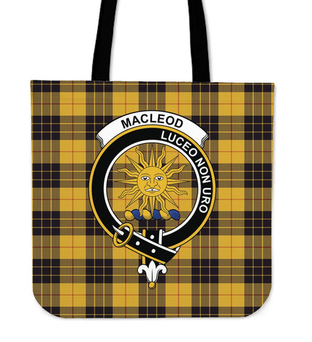 Tartan Tote Bag - MacLeod of Lewis Ancient Clan Badge | Special Custom Design