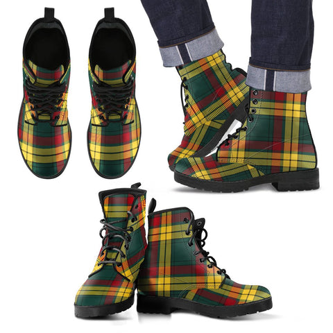 Leather Boots - Clan MacMillan Old Modern Plaid Boots