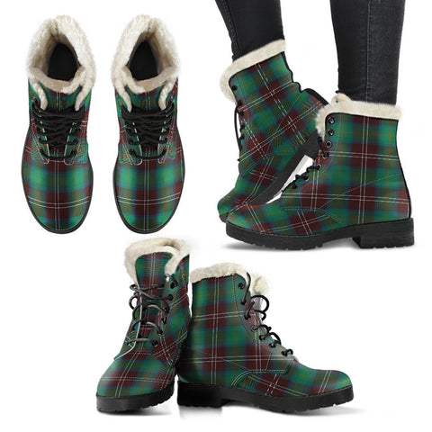 Chisholm Hunting Ancient Tartan Faux Fur Leather Boots
