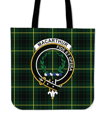 Tartan Tote Bag - MacArthur Modern Clan Badge | Special Custom Design