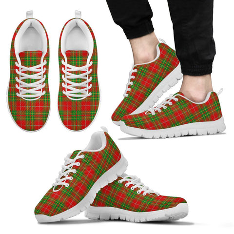Burnett Ancient, Men's Sneakers, Tartan Sneakers, Clan Badge Tartan Sneakers, Shoes, Footwears, Scotland Shoes, Scottish Shoes, Clans Shoes