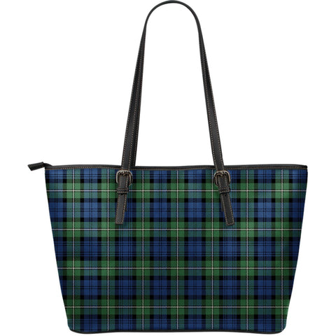 Forbes Ancient Tartan Leather Tote Bag (Large) | Over 500 Tartans | Special Custom Design