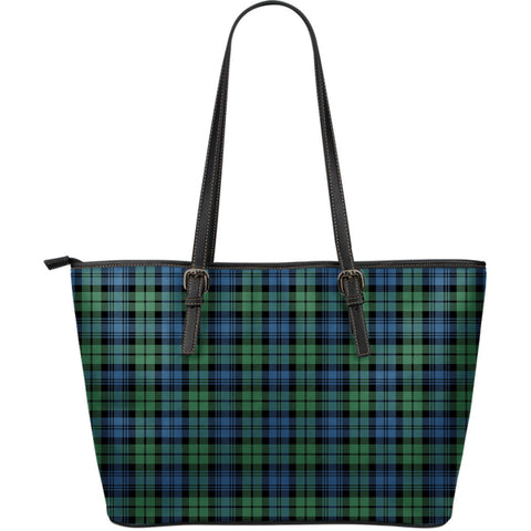 Campbell Ancient 02 Tartan Leather Tote Bag (Large) | Over 500 Tartans | Special Custom Design