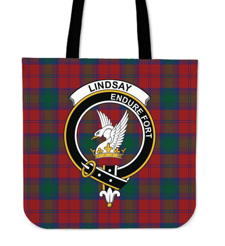 Tartan Tote Bag - Lindsay Modern Clan Badge | Special Custom Design