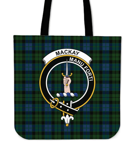 Tartan Tote Bag - MacKay Modern Clan Badge | Special Custom Design