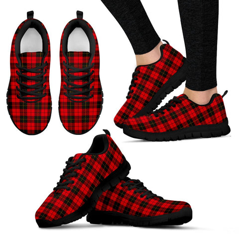 Wallace Weathered, Women's Sneakers, Tartan Sneakers, Clan Badge Tartan Sneakers, Shoes, Footwears, Scotland Shoes, Scottish Shoes, Clans Shoes