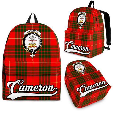 Cameron Tartan Clan Backpack | Scottish Bag | Adults Backpacks & Bags