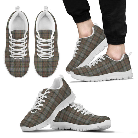 Outlander Fraser, Men's Sneakers, Tartan Sneakers, Clan Badge Tartan Sneakers, Shoes, Footwears, Scotland Shoes, Scottish Shoes, Clans Shoes