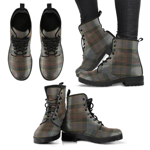 Image of Leather Boots - Clan Outlander Fraser Plaid Boots