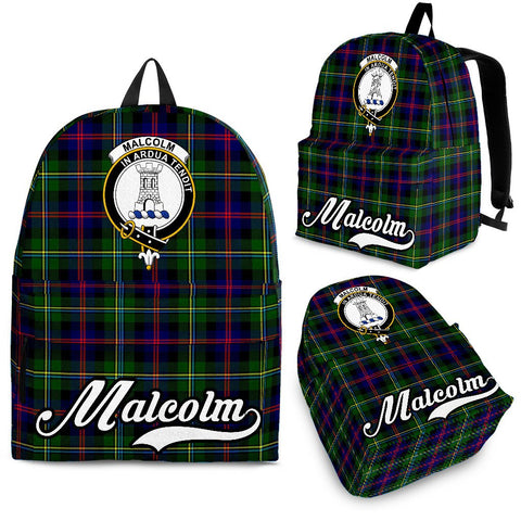 Malcolm (or MacCallum) Tartan Clan Backpack | Scottish Bag | Adults Backpacks & Bags
