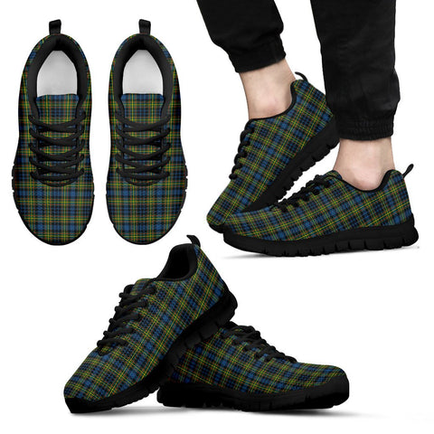 MacLellan Ancient, Men's Sneakers, Tartan Sneakers, Clan Badge Tartan Sneakers, Shoes, Footwears, Scotland Shoes, Scottish Shoes, Clans Shoes