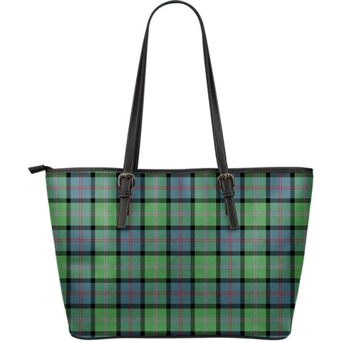 MacThomas Ancient Tartan Leather Tote Bag (Large) | Over 500 Tartans | Special Custom Design