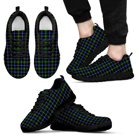 MacNeill of Barra Modern, Men's Sneakers, Tartan Sneakers, Clan Badge Tartan Sneakers, Shoes, Footwears, Scotland Shoes, Scottish Shoes, Clans Shoes
