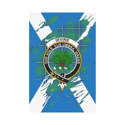 ScottishShop Garden Flag - Tartan Irvine Lives In Me Flag