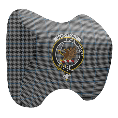 Tartan Head Cushion - Gladstone Head Cushion With Clan Crest