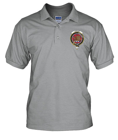 Image of Polo T-Shirt - Leslie (Earl of Rothes) Tartan Polo T-shirt for Men and Women