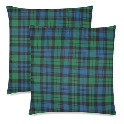 Image of Blackwatch Ancient decorative pillow covers, Blackwatch Ancient tartan cushion covers, Blackwatch Ancient plaid pillow covers