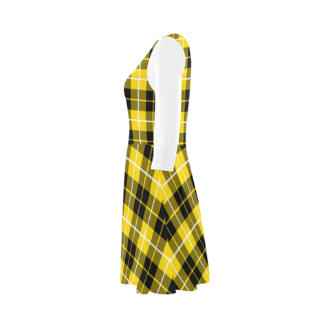 Image of Barclay Dress Modern Tartan 3/4 Sleeve Sundress | Exclusive Over 500 Clans