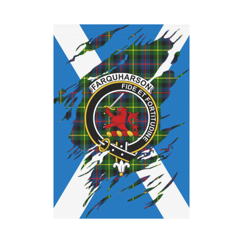 ScottishShop Garden Flag - Tartan Farquharson Lives In Me Flag