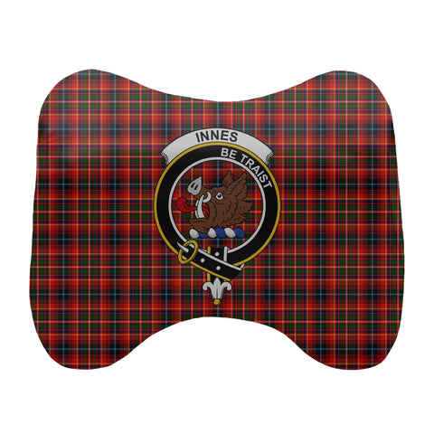 Tartan Head Cushion - Innes Head Cushion With Clan Crest