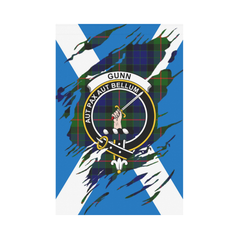 ScottishShop Garden Flag - Tartan Gunn Lives In Me Flag