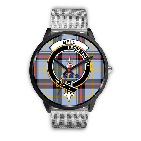 Bell of the Borders Clans ,Rose Gold Metal Link watch, leather steel watch, tartan watch, tartan watches, clan watch, scotland watch, merry christmas, cyber Monday, halloween, black Friday