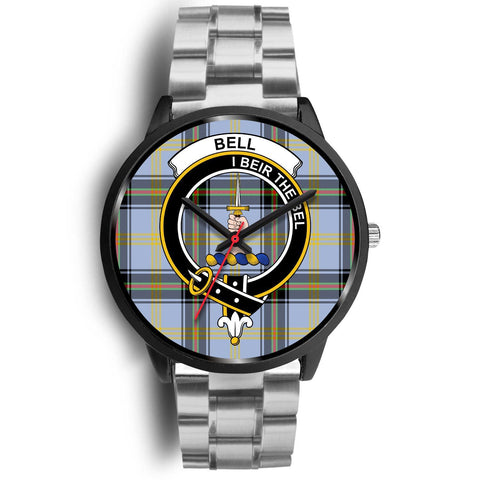 Bell of the Borders Clans ,Black Metal Link watch, leather steel watch, tartan watch, tartan watches, clan watch, scotland watch, merry christmas, cyber Monday, halloween, black Friday