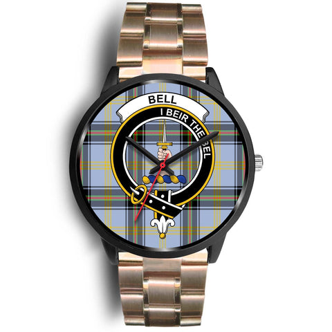 Bell of the Borders Clans ,Black Leather watch, leather steel watch, tartan watch, tartan watches, clan watch, scotland watch, merry christmas, cyber Monday, halloween, black Friday