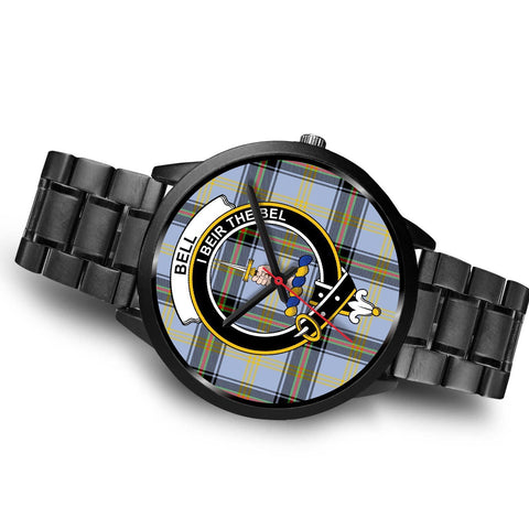 Bell of the Borders Clans ,Brown Leather watch, leather steel watch, tartan watch, tartan watches, clan watch, scotland watch, merry christmas, cyber Monday, halloween, black Friday