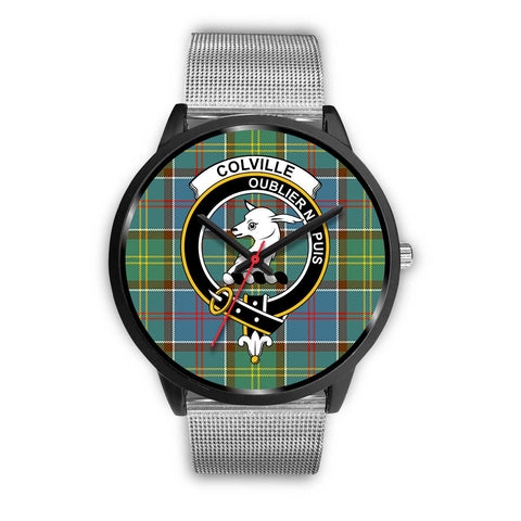 Colville District Clans ,Rose Gold Metal Link watch, leather steel watch, tartan watch, tartan watches, clan watch, scotland watch, merry christmas, cyber Monday, halloween, black Friday