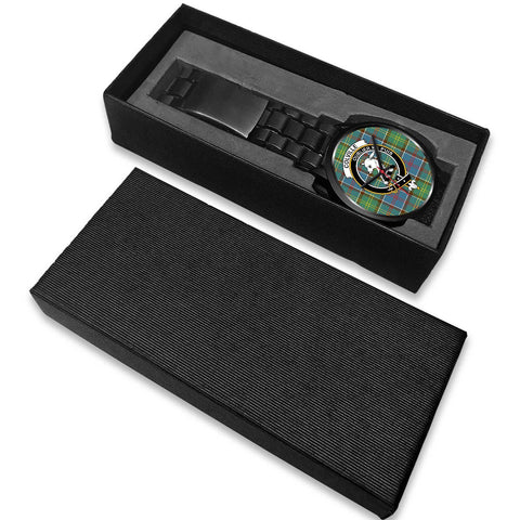 Colville District Clans ,White Leather watch, leather steel watch, tartan watch, tartan watches, clan watch, scotland watch, merry christmas, cyber Monday, halloween, black Friday