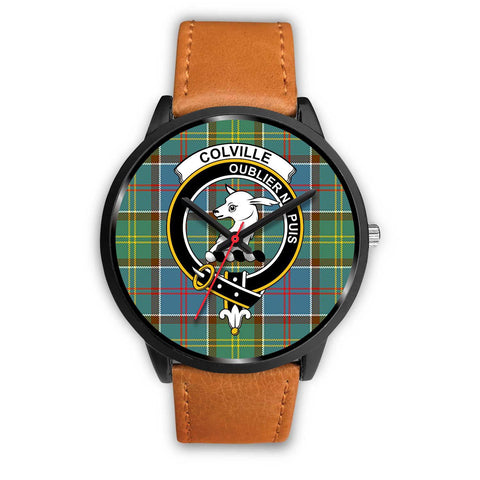 Colville District Clans ,Pink Leather watch, leather steel watch, tartan watch, tartan watches, clan watch, scotland watch, merry christmas, cyber Monday, halloween, black Friday