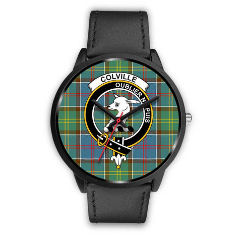 Colville District Clans ,Black Metal Mesh watch, leather steel watch, tartan watch, tartan watches, clan watch, scotland watch, merry christmas, cyber Monday, halloween, black Friday