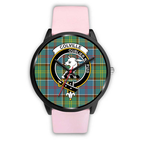 Colville District Clans ,Silver Metal Link watch, leather steel watch, tartan watch, tartan watches, clan watch, scotland watch, merry christmas, cyber Monday, halloween, black Friday