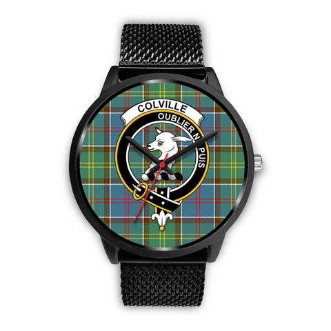 Colville District Clans ,Rose Gold Metal Mesh watch, leather steel watch, tartan watch, tartan watches, clan watch, scotland watch, merry christmas, cyber Monday, halloween, black Friday