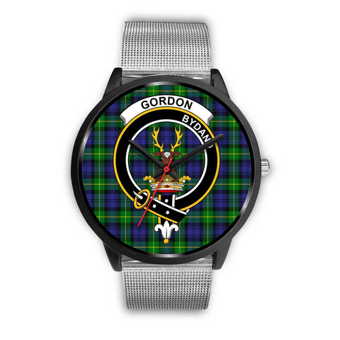 Gordon Modern Clans ,Rose Gold Metal Link watch, leather steel watch, tartan watch, tartan watches, clan watch, scotland watch, merry christmas, cyber Monday, halloween, black Friday