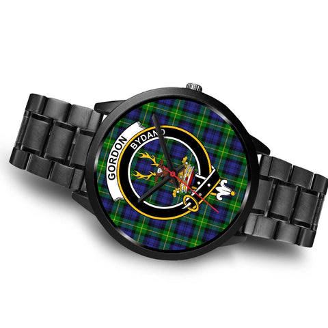 Gordon Modern Clans ,Brown Leather watch, leather steel watch, tartan watch, tartan watches, clan watch, scotland watch, merry christmas, cyber Monday, halloween, black Friday