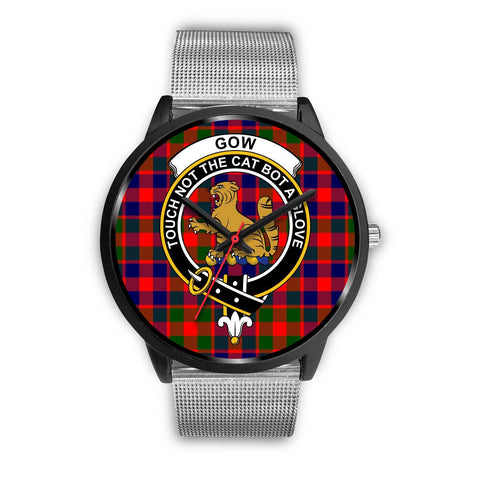 Gow of McGouan Clans ,Rose Gold Metal Mesh watch, leather steel watch, tartan watch, tartan watches, clan watch, scotland watch, merry christmas, cyber Monday, halloween, black Friday