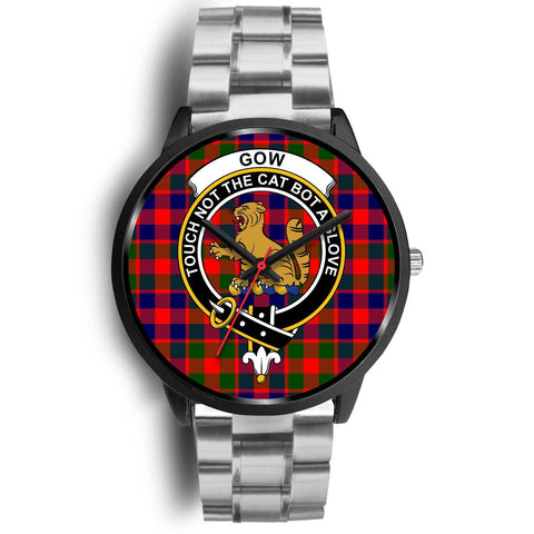 Gow of McGouan Clans ,Rose Gold Metal Link watch, leather steel watch, tartan watch, tartan watches, clan watch, scotland watch, merry christmas, cyber Monday, halloween, black Friday