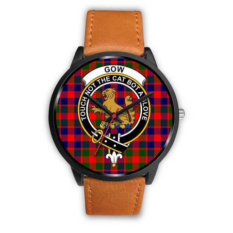 Gow of McGouan Clans ,White Leather watch, leather steel watch, tartan watch, tartan watches, clan watch, scotland watch, merry christmas, cyber Monday, halloween, black Friday