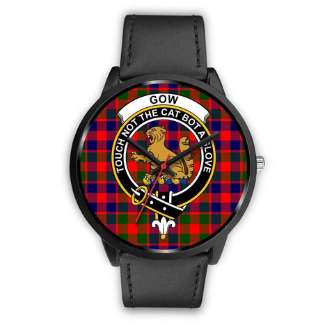 Gow of McGouan Clans ,Pink Leather watch, leather steel watch, tartan watch, tartan watches, clan watch, scotland watch, merry christmas, cyber Monday, halloween, black Friday