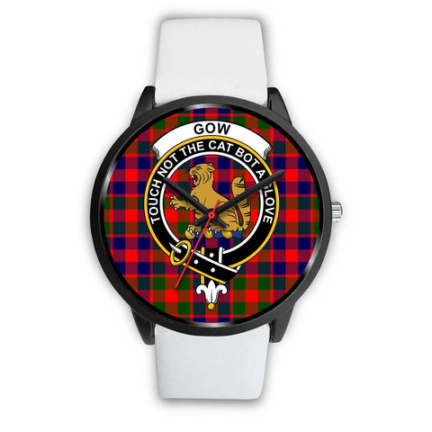 Gow of McGouan Clans ,Black Metal Mesh watch, leather steel watch, tartan watch, tartan watches, clan watch, scotland watch, merry christmas, cyber Monday, halloween, black Friday