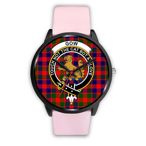 Gow of McGouan Clans ,Silver Metal Mesh watch, leather steel watch, tartan watch, tartan watches, clan watch, scotland watch, merry christmas, cyber Monday, halloween, black Friday