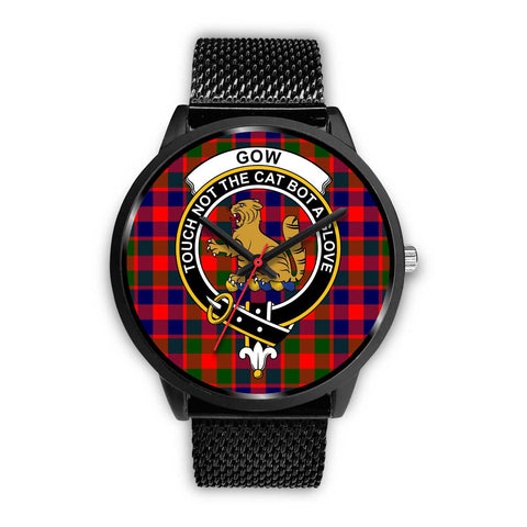 Gow of McGouan Clans ,Silver Metal Link watch, leather steel watch, tartan watch, tartan watches, clan watch, scotland watch, merry christmas, cyber Monday, halloween, black Friday