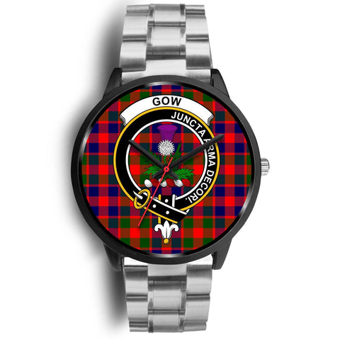 Gow of Skeoch Clans ,Rose Gold Metal Mesh watch, leather steel watch, tartan watch, tartan watches, clan watch, scotland watch, merry christmas, cyber Monday, halloween, black Friday