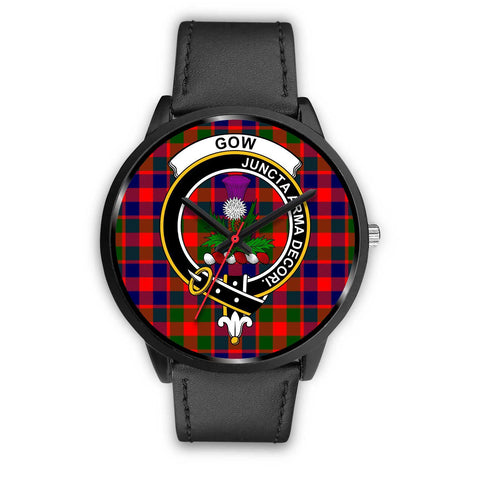 Gow of Skeoch Clans ,White Leather watch, leather steel watch, tartan watch, tartan watches, clan watch, scotland watch, merry christmas, cyber Monday, halloween, black Friday