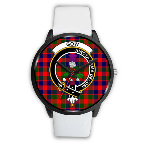 Gow of Skeoch Clans ,Pink Leather watch, leather steel watch, tartan watch, tartan watches, clan watch, scotland watch, merry christmas, cyber Monday, halloween, black Friday